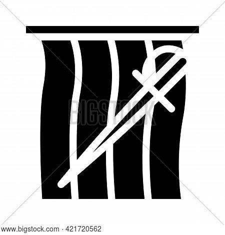 Bullfighting Spain Glyph Icon Vector. Bullfighting Spain Sign. Isolated Contour Symbol Black Illustr
