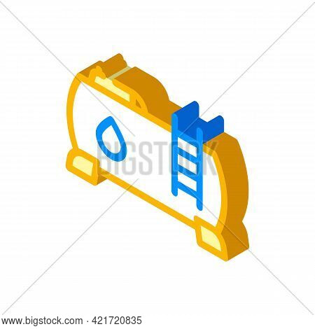 Water Building Material Isometric Icon Vector. Water Building Material Sign. Isolated Symbol Illustr
