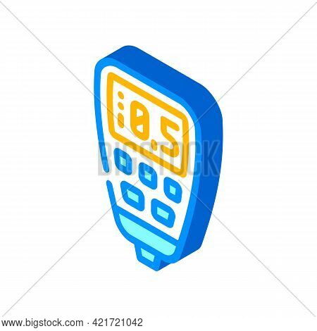 Thickness Gauge Device Isometric Icon Vector. Thickness Gauge Device Sign. Isolated Symbol Illustrat