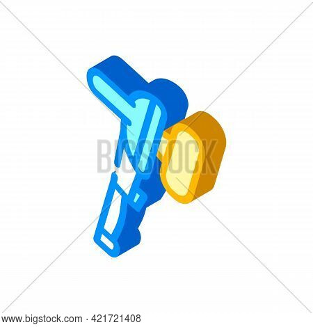 Electronic Instrument For Car Polishing Isometric Icon Vector. Electronic Instrument For Car Polishi