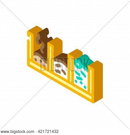 Pit Compost Isometric Icon Vector. Pit Compost Sign. Isolated Symbol Illustration