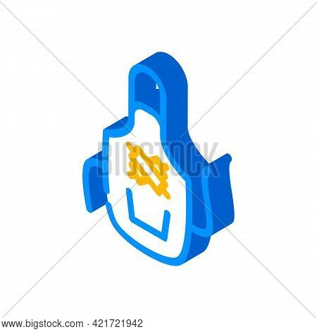 Apron For Cooking Isometric Icon Vector. Apron For Cooking Sign. Isolated Symbol Illustration