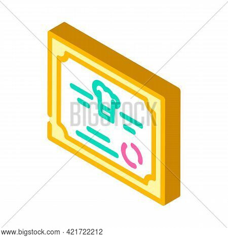 Diploma Cooking Courses Isometric Icon Vector. Diploma Cooking Courses Sign. Isolated Symbol Illustr