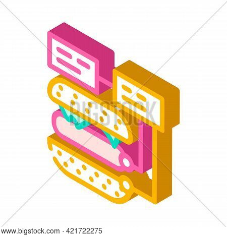 Ingredients For Cooking Isometric Icon Vector. Ingredients For Cooking Sign. Isolated Symbol Illustr