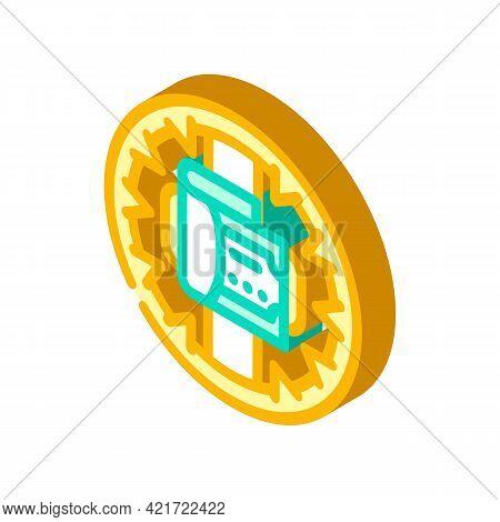 Money Trap Isometric Icon Vector. Money Trap Sign. Isolated Symbol Illustration