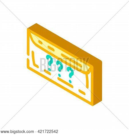 Envelope With Purchase Isometric Icon Vector. Envelope With Purchase Sign. Isolated Symbol Illustrat