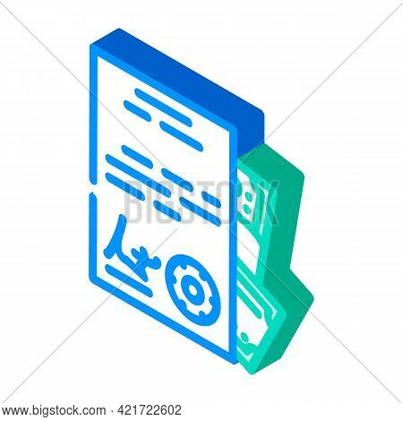 Purchase Of Documents Isometric Icon Vector. Purchase Of Documents Sign. Isolated Symbol Illustratio