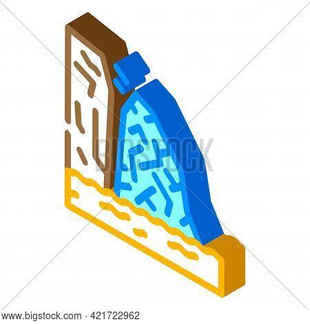 Breakaway Iceberg Disaster Isometric Icon Vector. Breakaway Iceberg Disaster Sign. Isolated Symbol I