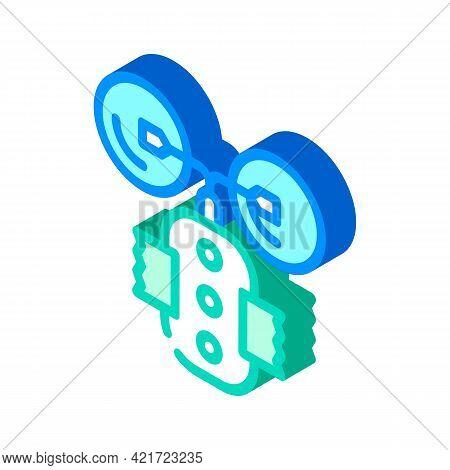 Stimulant Device Isometric Icon Vector. Stimulant Device Sign. Isolated Symbol Illustration