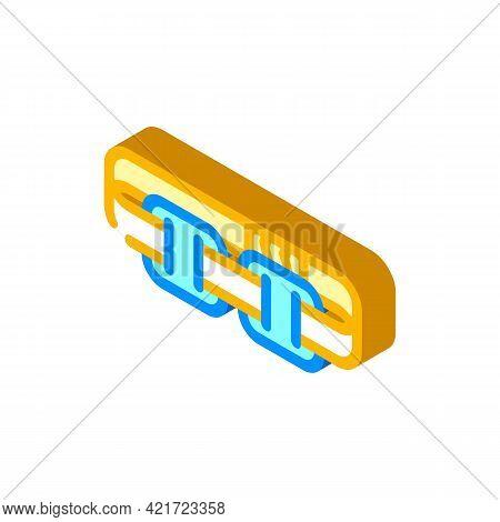 Stimulator With Strap Isometric Icon Vector. Stimulator With Strap Sign. Isolated Symbol Illustratio