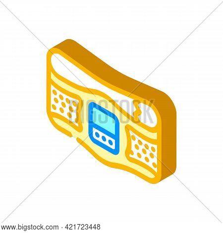 Belt Stimulator Isometric Icon Vector. Belt Stimulator Sign. Isolated Symbol Illustration