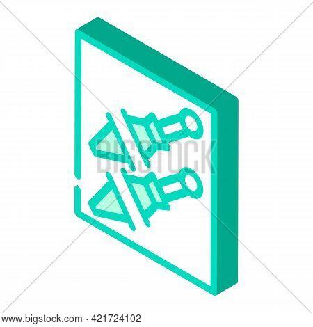 Knife Pocket Isometric Icon Vector. Knife Pocket Sign. Isolated Symbol Illustration