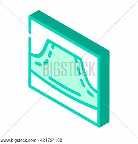 Hoodie Pocket Isometric Icon Vector. Hoodie Pocket Sign. Isolated Symbol Illustration
