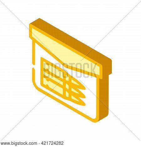 Bullet Pocket Isometric Icon Vector. Bullet Pocket Sign. Isolated Symbol Illustration