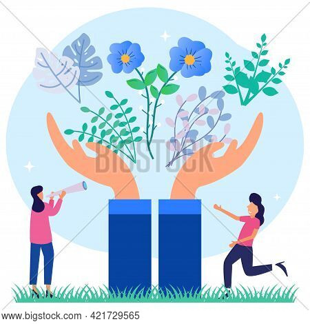 Alternative Herbal Medicine Vector Illustration For Everyone's Health Care Concept. Natural Plants A