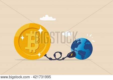 Cryptocurrency Sustainability Problem, Bitcoin And Crypto Currency Mining Energy Consumption Not Env