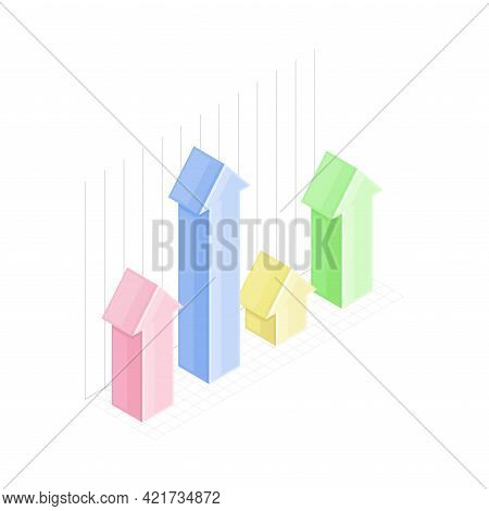Infographic As Graphic Visual Representation Of Information Or Data Isometric Vector Illustration