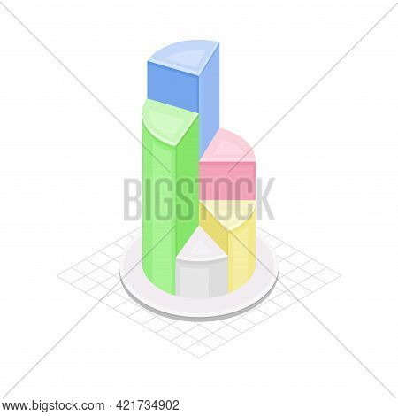 Circular Chart As Isometric Infographic As Graphic Visual Representation Of Information Or Data Vect