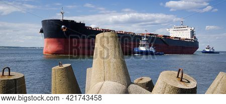 Bulk Carrier - Freighter Sails On The Sea