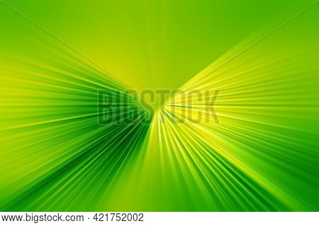 Abstract Radial Zoom Blur Surface Of Light Green And Yellow Tones. Abstract  Bright Green  Backgroun