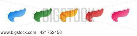Ribbon Tags Set. Vector Ribbons Colorfull Collection. Tag Icons Set. Stickers Set. Modern Creative B