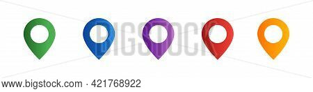 Location Pointer Icon Set. Map Pins Set. Location Symbols Collection. Gps Navigation Pointer. Naviga