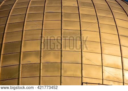 The Golden Cupola Of The Dome Of The Rock On Temple Mount. East Jerusalem, Palestine, Israel