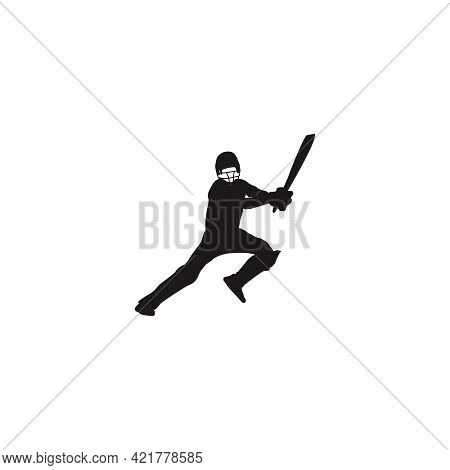 cricket athlete are jumping to hit the ball on cricket game - sport man cartoon are jumping to hit the ball isolated on white