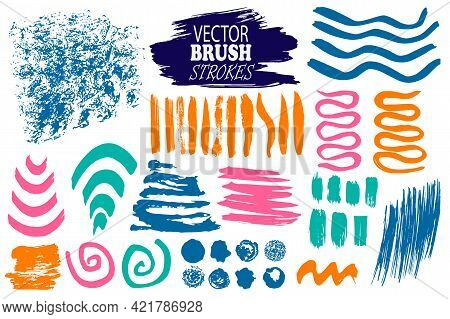 Vector Image - Set Of Hand-drawn And Scanned Ink Blobs, Spots And Different Lines, Editable, Can Be