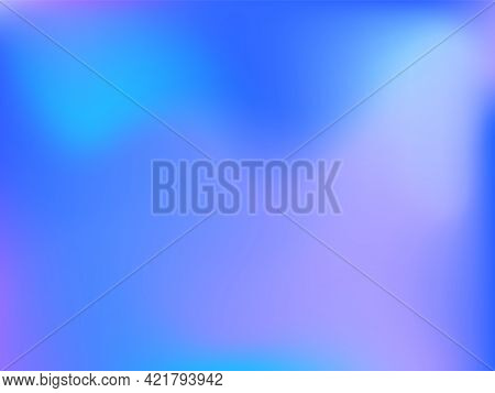 Holographic Background. Bright Smooth Mesh Blurred Futuristic Pattern In Pink, Blue, Green