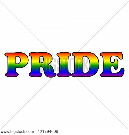 Happy Pride Month Banner. Pride Day Lgbtq Concept, Lgbt Pride Month Poster Card Design. Human Rights