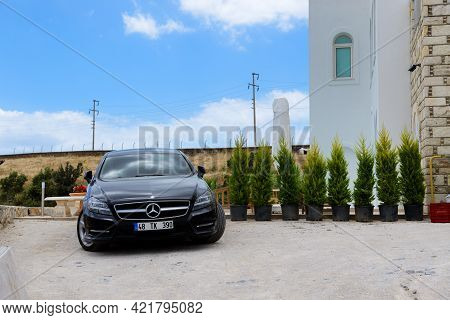 Bodrum, Turkey - May 23: The Mercedes-benz Cls-class Car Is Parked Near Villa On May 23, 2013 In Bod