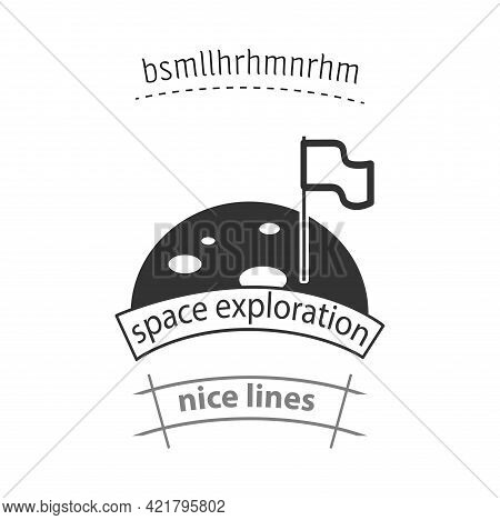 Space Exploration Simple Vector Icon. Space Exploration Isolated Icon