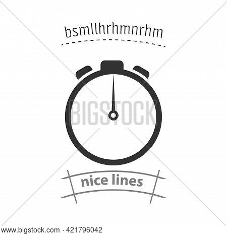 Timer Simple Vector Icon. Timer Isolated Icon