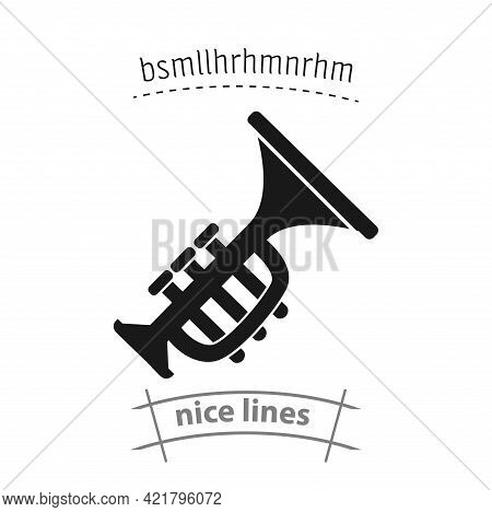 Music Trumpet Simple Vector Icon. Music Trumpet Isolated Icon