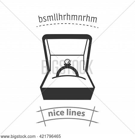 Wedding Ring Icon. Engagement Rings Simple Vector Icon. Engagement Rings Isolated Icon