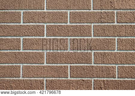 Vintage Brick Wall Background, Brickwall Texture Aging Effect. Grunge Rrick Wall As Brickwork Backgr