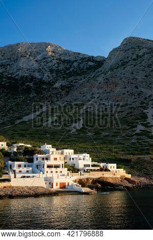 Kamares town on Sifnos island on sunset. Greece