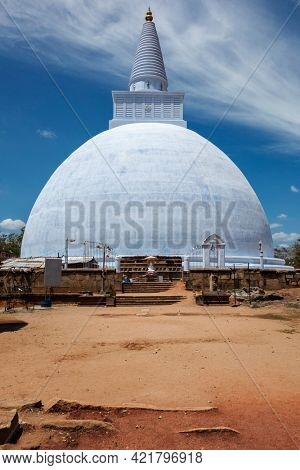 Mirisavatiya Dagoba Buddhist stupa in Anuradhapura, Sri Lanka, build by King Dutugamunu (161-136 BC), rebuilt by King Kasyapa the fifth (929-938 AD) in 930 AD