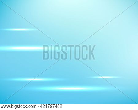 Abstract Technology Vector Background With Hi Speed Lights Blue Light Motion.