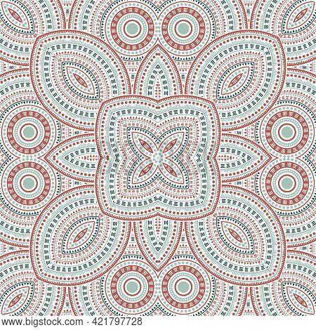 Elegant Moroccan Zellige Tile Seamless Pattern. Geometric Texture Vector Elements.