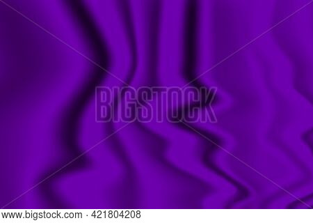Silk Purple Background. Abstract Vector Pattern With Copy Space. Liquid Wave Texture, Smooth Drapery
