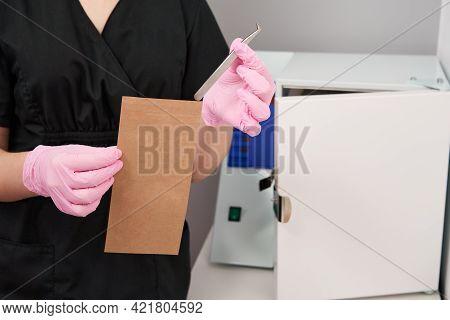 Sterilization Of Instruments And Tools. Sterilization Procedure. Steam Autoclave.