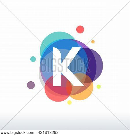 Abstract K Initial Logo Designs Concept Vector, Colorful Letter K Logo Designs