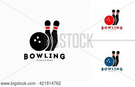 Bowling Logo Designs Concept Vector Template Illustration