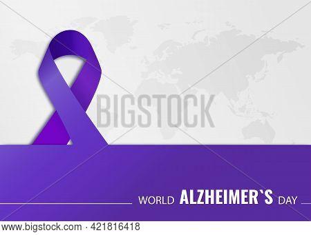 Vector Illustration On The Theme World Alzheimer's Day