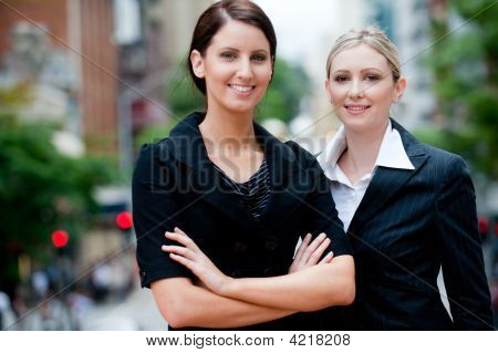 Businesswomen Outside