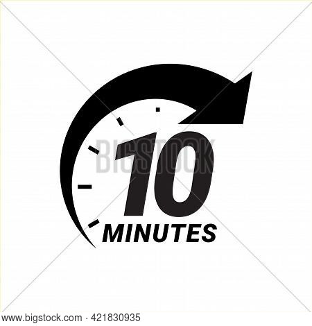 Minute Timer Icons. Sign For Ten Minutes.