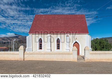 Klaarstroom, South Africa - April 5, 2021: A Street Scene, With The Good Shepherd Anglican Church, I