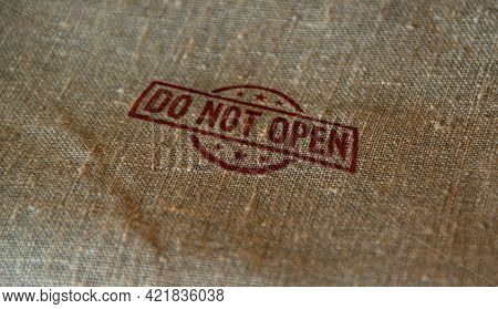 Do Not Open Stamp And Stamping